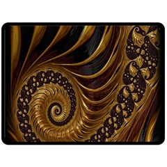Fractal Spiral Endless Mathematics Fleece Blanket (large)  by Nexatart