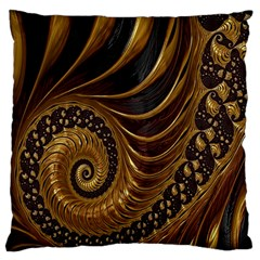 Fractal Spiral Endless Mathematics Large Cushion Case (one Side) by Nexatart