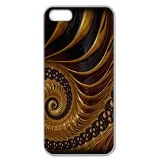 Fractal Spiral Endless Mathematics Apple Seamless Iphone 5 Case (clear)