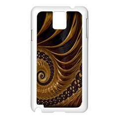 Fractal Spiral Endless Mathematics Samsung Galaxy Note 3 N9005 Case (white)