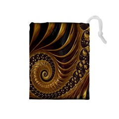 Fractal Spiral Endless Mathematics Drawstring Pouches (medium)