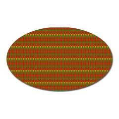Fugly Christmas Xmas Pattern Oval Magnet by Nexatart