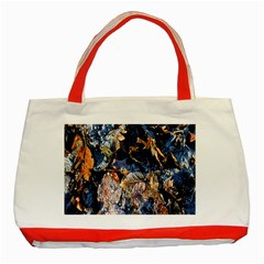 Frost Leaves Winter Park Morning Classic Tote Bag (red) by Nexatart