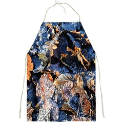 Frost Leaves Winter Park Morning Full Print Aprons by Nexatart