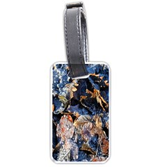 Frost Leaves Winter Park Morning Luggage Tags (one Side)  by Nexatart