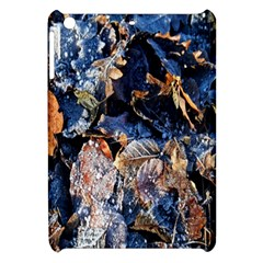 Frost Leaves Winter Park Morning Apple Ipad Mini Hardshell Case by Nexatart