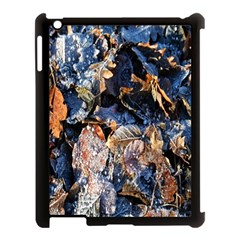Frost Leaves Winter Park Morning Apple Ipad 3/4 Case (black) by Nexatart