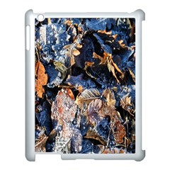 Frost Leaves Winter Park Morning Apple Ipad 3/4 Case (white) by Nexatart