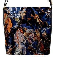Frost Leaves Winter Park Morning Flap Messenger Bag (s) by Nexatart