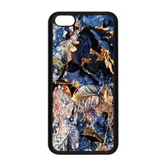 Frost Leaves Winter Park Morning Apple Iphone 5c Seamless Case (black) by Nexatart