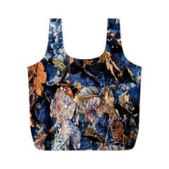 Frost Leaves Winter Park Morning Full Print Recycle Bags (m)  by Nexatart