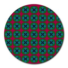 Geometric Patterns Round Mousepads