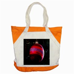 Glass Ball Decorated Beautiful Red Accent Tote Bag