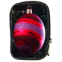 Glass Ball Decorated Beautiful Red Compact Camera Cases