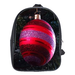 Glass Ball Decorated Beautiful Red School Bags(large)