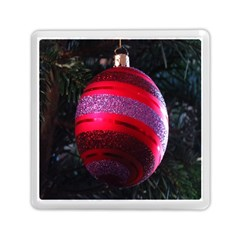 Glass Ball Decorated Beautiful Red Memory Card Reader (square)  by Nexatart