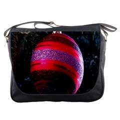 Glass Ball Decorated Beautiful Red Messenger Bags