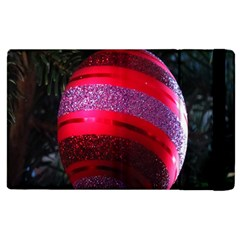 Glass Ball Decorated Beautiful Red Apple Ipad 2 Flip Case