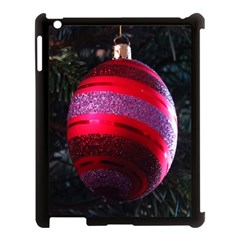 Glass Ball Decorated Beautiful Red Apple Ipad 3/4 Case (black) by Nexatart