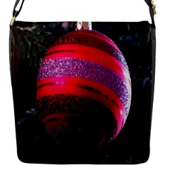 Glass Ball Decorated Beautiful Red Flap Messenger Bag (s)