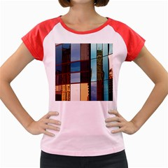Glass Facade Colorful Architecture Women s Cap Sleeve T Shirt