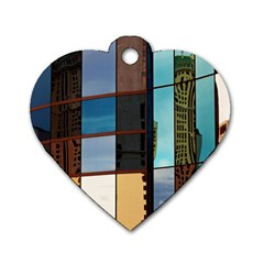 Glass Facade Colorful Architecture Dog Tag Heart (one Side)