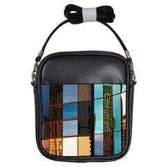 Glass Facade Colorful Architecture Girls Sling Bags by Nexatart