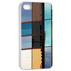 Glass Facade Colorful Architecture Apple Iphone 4/4s Seamless Case (white)
