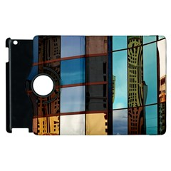 Glass Facade Colorful Architecture Apple Ipad 2 Flip 360 Case by Nexatart