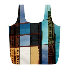 Glass Facade Colorful Architecture Full Print Recycle Bags (l)