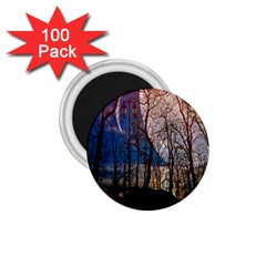 Full Moon Forest Night Darkness 1 75  Magnets (100 Pack)  by Nexatart