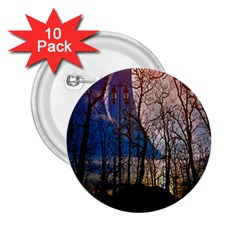 Full Moon Forest Night Darkness 2 25  Buttons (10 Pack)