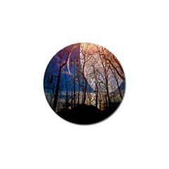 Full Moon Forest Night Darkness Golf Ball Marker (10 Pack) by Nexatart