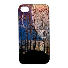 Full Moon Forest Night Darkness Apple Iphone 4/4s Hardshell Case With Stand