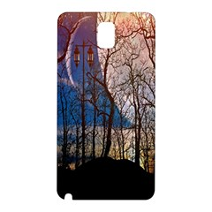 Full Moon Forest Night Darkness Samsung Galaxy Note 3 N9005 Hardshell Back Case by Nexatart