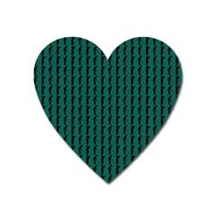 Golf Golfer Background Silhouette Heart Magnet