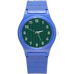 Golf Golfer Background Silhouette Round Plastic Sport Watch (s)