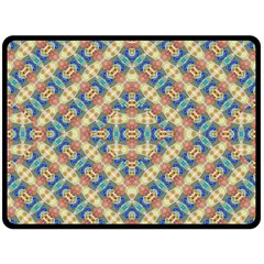 Modern Geometric Intricate Pattern Fleece Blanket (large)  by dflcprints