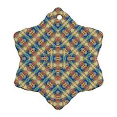 Modern Geometric Intricate Pattern Snowflake Ornament (two Sides)