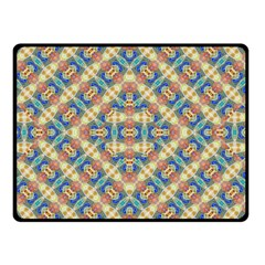 Modern Geometric Intricate Pattern Double Sided Fleece Blanket (small)  by dflcprints