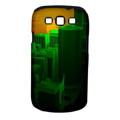 Green Building City Night Samsung Galaxy S Iii Classic Hardshell Case (pc+silicone)