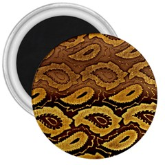 Golden Patterned Paper 3  Magnets