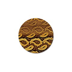Golden Patterned Paper Golf Ball Marker (4 Pack)
