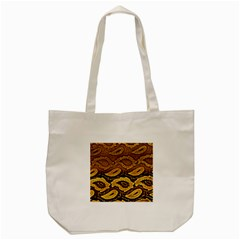 Golden Patterned Paper Tote Bag (cream) by Nexatart