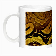 Golden Patterned Paper Night Luminous Mugs