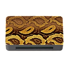 Golden Patterned Paper Memory Card Reader With Cf