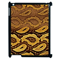 Golden Patterned Paper Apple Ipad 2 Case (black) by Nexatart