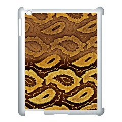 Golden Patterned Paper Apple Ipad 3/4 Case (white)