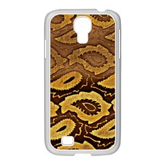 Golden Patterned Paper Samsung Galaxy S4 I9500/ I9505 Case (white)