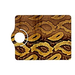 Golden Patterned Paper Kindle Fire Hd (2013) Flip 360 Case by Nexatart